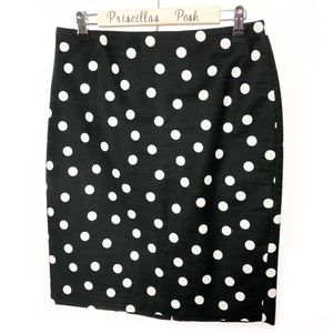 Ann Taylor Polka Dot Textured Pencil Skirt SZ 6